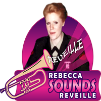 Rebecca Sounds Reveille with Mike Francis - burst 2